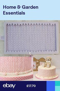 Cake Decorating Set, Cake Decorating Supplies, Cake Decorating Techniques, Fondant Icing Cakes, Fondant Molds, Frosting, Karen Davies Moulds, Knitting Cake, Girls First Birthday Cake