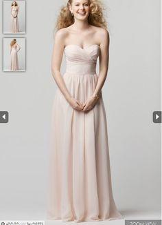 2015 Zipper Up Sweetheart Sleeveless Chiffon Floor Length Bridesmaid / Prom Dresses By WTOO 601