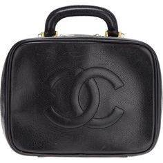Chanel Vintage Logo Detail Pouchette ($2,090) ❤ liked on Polyvore