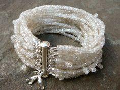 The Belinda: Champagne Zircon Multi Strand Bracelet por TeeceTorre
