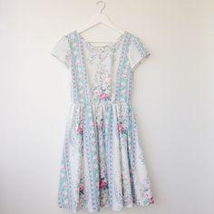 Mabel Dress - Rose & Blue