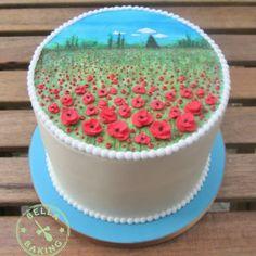 Poppy field cake