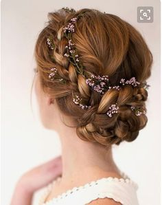 Beautiful & romantic hairstyle. Depending on the country you live in, or the look you're going for, there are too many hair accessories or just the right amt.