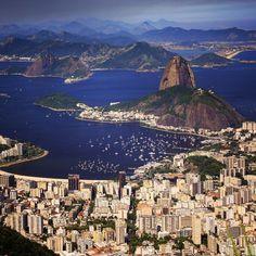 Awesome view over Rio. Such a beautiful city #rio #riodejaneiro #brazil
