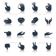 Hand Icons Black by macrovector Human hands applause tap helping action gestures icons black set isolated vector illustration. Editable EPS and Render in JPG form Free Vector Art, Vector Icons, Perspective Sketch, Hands Icon, Black Royalty, People Icon, Cool Packaging, Hand Logo, Graphic Design