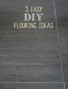 5 Easy DIY Flooring Ideas - I like the painted vinyl floor idea. Do It Yourself Food, Do It Yourself Furniture, Diy Projects To Try, Home Projects, Recycling Projects, Home Renovation, Painted Furniture, Diy Furniture, Painted Floors