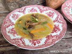 gurmanka: polévka se sladkými bramborami a houbami