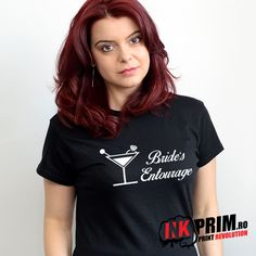 Tricou Burlacite, Personalizate cu mesajul Bride`s Entourage Entourage, T Shirts For Women, Bride, Tops, Fashion, Wedding Bride, Moda, Fashion Styles, The Bride