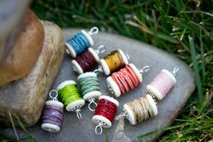 Handmade Lampwork Glass Spool Pendant for a Necklace by madfish40, $10.00