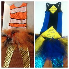 Best Run Disney running costumes ever! Nemo and Dory for the Tinkerbell 1/2 marathon