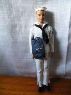 Vintage Mattel Ken, painted hair, 7 delige sailor outfit complete, 30, 5 cm