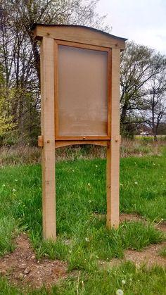 The Mini Kiosk: A Humble Timber Frame Kiosk Kiosk Design, Signage Design, Eagle Scout Project Ideas, Information Kiosk, Timber Frames, Parking Design, Community Building, Frame Display, Outdoor Signs