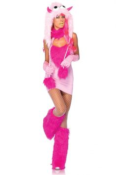 Pink Puff Monster includes furry halter dress with attached tail and matching · Halloween Costumes 2014Happy HalloweenHalter ...  sc 1 st  Pinterest & Blue Womens Cute Monster Fashion Halloween Furry Costume - PINK ...
