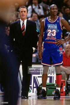 Coach Pat Riley and Michael Jordan