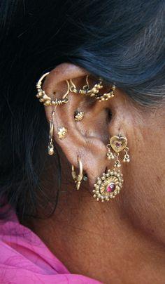 India | woman's earrings in Gujarat | ©Rudi Roels