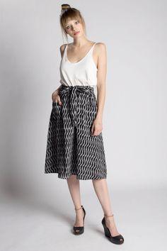 Black Fog Midi Skirt – Bead & Reel