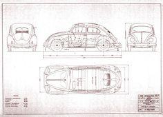 beetle blueprint   via mauro letizia