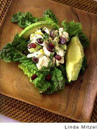 chicken avocado cranberry salad