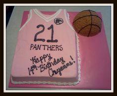 Cake for  a girl that LOVES basketball!
