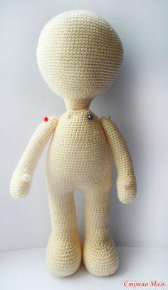 crochet amigurumi doll. Base muñeca