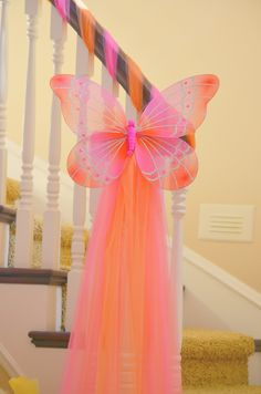Butterfly Tulle Pink Orange Birthday