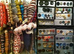 Crafters Vintage Grab Bag: yards of vintage trims (10 yards assorted), and selection of beautiful buttons. #Etsy $40
