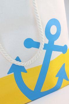 DIY Anchor Tote Bag - Damask Love