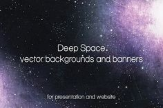 Deep Space backgrounds and banners by Vítek Prchal on @creativemarket