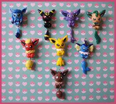 Chibi-Charms: Pokemon Eeveelutions by MandyPandaa.deviantart.com on @deviantART