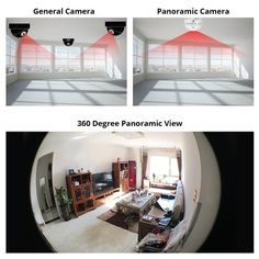 LED Light Wireless 360 Panoramic Home Security WiFi CCTV Fisheye Camera Bulb - Home security systems Security Gadgets, Wireless Home Security Systems, Security Camera System, Security Alarm, Security Products, Security Tips, Best Home Security, Security Cameras For Home, House Security
