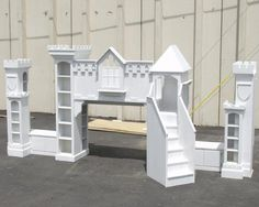 Queen Sized Bed Castle<BR>Prime Painted $4295<BR>With Base Coat Only $5295 CALL FOR SHIPPING<BR>