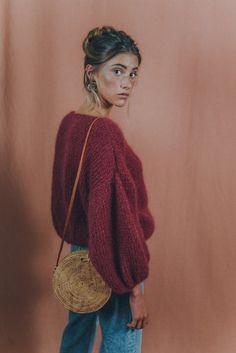 MOHAIR SWEATER/boho sweater/slouchy sweater/scandinavian sweater/wool sweater/ chunky sweater /oversize/sustainable gift/sustainable fashion - Informations About MOHAIR SWEATER/boho sweater/slouchy sweater/scandinavian sweater/wool sweater/ c - Pull Slouchy, Slouchy Sweater, Mohair Sweater, Chunky Sweater Outfit, Big Sweater, Burgundy Sweater, Gros Pull Oversize, Boho Pullover, Bobe