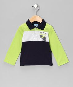 Take a look at this Green 'Surf Team' Polo - Infant by Playful Picks: Kids' Apparel on #zulily today!
