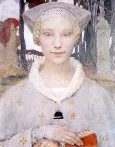 Edgar Maxence, 1929. Edgar Maxence (1871-1954), was a French Symbolist painter.