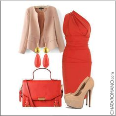 CHATA'S DAILY TIP:  The combination of stone and orange is chic, elegant and very much on trend. Your bag and shoes don't have to match but if you opt to wear different shades best make sure they tone and blend with the rest of your outfit. COPY CREDIT: Chata Romano http://chataromano.com/consultant/chata-romano/
