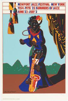 "jareckiworld: ""Milton Glaser - Newport Jazz Festival 1978 """