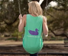 Our most popular shirt, now with a little less fabric and a lot more skin! Featuring the Southern Marsh mallard silhouette logo on the back, and our Authent...