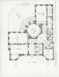 Mansion Floor Plans: France