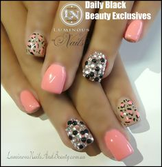 GEL/ACRYLIC NAILS.........LOVE EM!...............FOR MORE PLEASE CHECK OUT DAILY BLACK BEAUTY EXCLUSIVES ON FACEBOOK!!!!