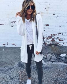 """LIKEtoKNOW.it on Instagram: """"""""Keeping things super casual but still cute in the most comfortable joggers, distressed tee, and long cardigan. I am finding myself turning to this look more and more with my second pregnancy! Thanks so much for following along with me today and allowing me to share some of my style with you!! Head on over to my instagram and blog to see more of all thingscellajane.com!""""- @cellajaneblog for #LTKTakeoverTuesday 