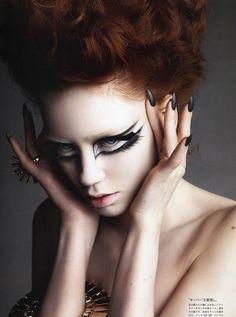 Creative editorial makeup