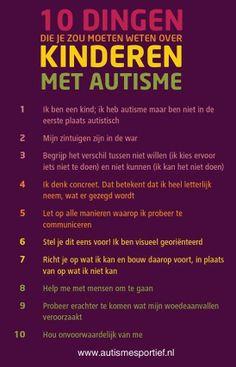 10 dingen die je zou moeten weten over kinderen met autisme: Let op de eerste zin!