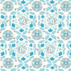 Dena Fishbein - Sunshine Cotton Linen - Circle in Aqua