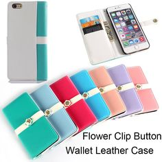 50x Fashion Women Flip Wallet Leather Case For Apple IPhone 6 Plus 5.5'' Luxury Pouch Folio Cover