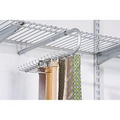 Rubbermaid Configurations 30-Hook Tie and Belt Organizer, Titanium (Walmart) $14.88
