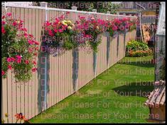 Cottage Garden Designs Bursting With Color 15 Fence Planters That'll Have You Loving Your Privacy Fence Again - Page 3 of 3 - Garden Lovers Fence Planters That'll Have You Loving Your Privacy Fence Again - Page 3 of 3 - Garden Lovers Club Backyard Fences, Garden Fencing, Backyard Landscaping, Landscaping Ideas, Privacy Fence Landscaping, Landscaping Edging, Backyard Privacy, Cheap Privacy Fence, Privacy Fence Designs