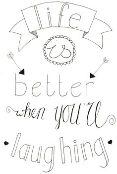 life is better Doodle Lettering, Hand Lettering Quotes, Calligraphy Quotes, Pretty Quotes, Nice Quotes, Drawing Quotes, Journal Quotes, Bullet Journal Ideas Pages, Verse