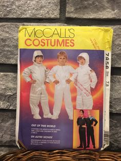 Excited to share this item from my #etsy shop: Children's astronaut or space suit costume pattern for Halloween or play McCalls 7856 from 1995, size 7, 8, uncut pattern #spacesuit #sewingpattern