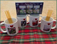 Alaska Wildflower Mug Set Tea Bags Honey Sticks Alaska Gift | Etsy