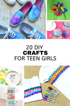 DIY Crafts for teen girls. Try these fun, easy and cute craft projects for self isolation. Perfect summer boredom buster ideas to make jewelry, home decor items, outdoor ideas, and more! Diy Crafts For Girls, Diy Crafts For Teen Girls, Cute Crafts, Activities For Teens, Creative Activities, Craft Activities, Challenge For Teens, Summer Boredom, Craft Projects